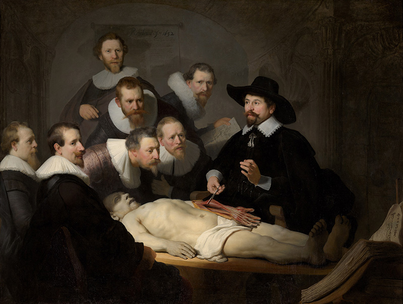 rembrandt lekcja anatomii dr Nicolasa Tulpa